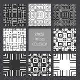 Zwart-wit herhaalde vierkante inzameling Royalty-vrije Stock Foto's