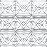Zwart-wit het merken geometrisch naadloos patroon vector illustratie