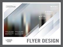 Zwart-wit het ontwerpmalplaatje van de Brochurelay-out jaarlijks Stock Foto's