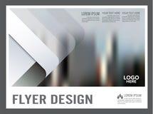 Zwart-wit het ontwerpmalplaatje van de Brochurelay-out jaarlijks Stock Afbeeldingen