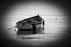 Zwart-wit het Roeien Boot Stock Afbeeldingen