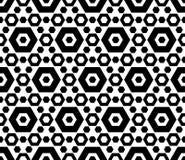 Zwart & wit hexagonaal geometrisch naadloos patroon Royalty-vrije Stock Fotografie