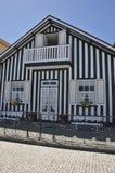 Zwart-wit huis Stock Afbeelding