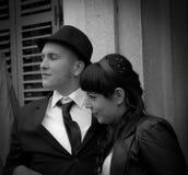Zwart-wit huwelijk Royalty-vrije Stock Fotografie