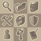 Zwart-wit Internet pictogrammen Royalty-vrije Stock Foto