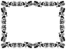 Zwart-wit kader van spatie met bloemenelement royalty-vrije illustratie