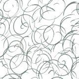 Zwart-wit kalligrafisch naadloos patroon met krullen Abstracte achtergrond met hand getrokken elementen Vector illustratie Royalty-vrije Illustratie