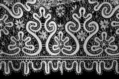 Zwart-wit kant Stock Afbeelding