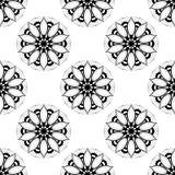 Zwart-wit Lotus Endless Backdrop Stock Fotografie