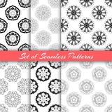 Zwart-wit Lotus Seamless Stock Foto
