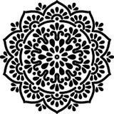 Zwart-wit Mandalapatroon Stock Fotografie
