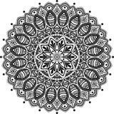 Zwart-wit Mandalapatroon Royalty-vrije Stock Afbeeldingen