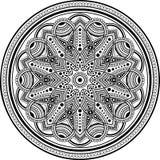 Zwart-wit Mandalapatroon Royalty-vrije Stock Afbeelding