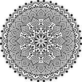 Zwart-wit Mandalapatroon Stock Afbeelding