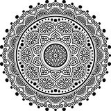 Zwart-wit Mandalapatroon Royalty-vrije Stock Fotografie