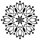 Zwart-wit Mandalapatroon royalty-vrije illustratie