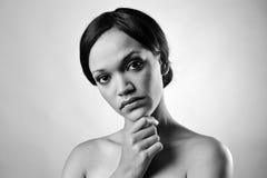 Zwart-wit maniermeisje Royalty-vrije Stock Foto