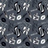 Zwart-wit manierpatroon Uitstekende vectorillustratie Royalty-vrije Stock Foto