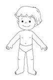 Zwart-wit - mannelijk kind Stock Foto's