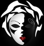 zwart-wit masker Stock Afbeeldingen