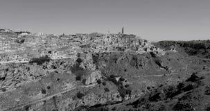 Zwart-wit Matera stock footage