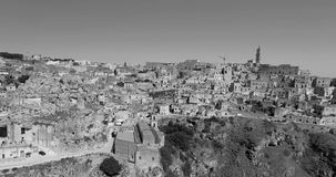 Zwart-wit Matera stock videobeelden