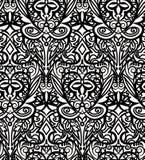 Zwart-wit monogramornament Royalty-vrije Stock Afbeeldingen