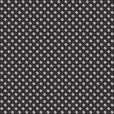 Zwart-wit naadloos bloem geometrisch patroon vector illustratie