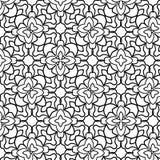 Zwart-wit naadloos bloemenpatroon met hand-drawn kwaliteiten royalty-vrije illustratie