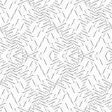 Zwart-wit naadloos gebogen patroon stock foto's