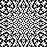Zwart-wit naadloos gebogen patroon stock afbeeldingen