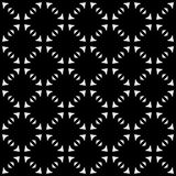 Zwart-wit naadloos gebogen patroon stock fotografie