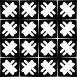 Zwart-wit naadloos geometrisch patroon stock illustratie
