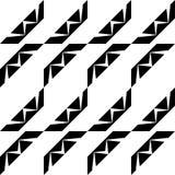 Zwart-wit naadloos geometrisch patroon stock foto