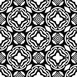 Zwart-wit naadloos geometrisch patroon Stock Fotografie