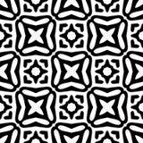 Zwart-wit naadloos geometrisch patroon Stock Afbeeldingen