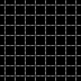 Zwart-wit naadloos geometrisch patroon Stock Afbeelding