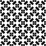 Zwart-wit naadloos geometrisch patroon Royalty-vrije Stock Afbeelding