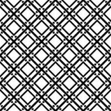 Zwart-wit naadloos geometrisch patroon Royalty-vrije Stock Foto's