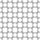 Zwart-wit naadloos geometrisch patroon Royalty-vrije Stock Fotografie