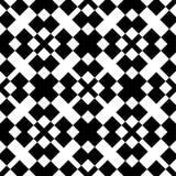 Zwart-wit naadloos geometrisch patroon Stock Foto's