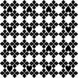 Zwart-wit naadloos geometrisch patroon Royalty-vrije Stock Foto