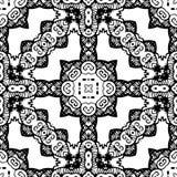 Zwart-wit Naadloos het Herhalen Vectorpatroon Royalty-vrije Stock Foto