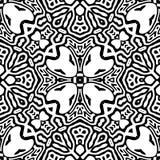 Zwart-wit Naadloos het Herhalen Vectorpatroon Stock Foto