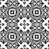 Zwart-wit Naadloos het Herhalen Vectorpatroon Stock Foto's