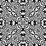 Zwart-wit Naadloos het Herhalen Vectorpatroon Royalty-vrije Stock Afbeelding
