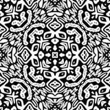 Zwart-wit Naadloos het Herhalen Vectorpatroon Royalty-vrije Stock Foto's