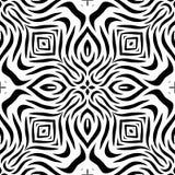 Zwart-wit Naadloos het Herhalen Vectorpatroon Stock Afbeeldingen