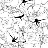 Zwart-wit naadloos patroon Stock Fotografie
