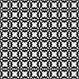 Zwart-wit naadloos patroon Stock Afbeelding